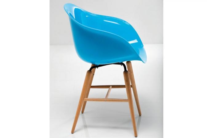 fauteuil design bleu andreas plastique bois declikdeco. Black Bedroom Furniture Sets. Home Design Ideas
