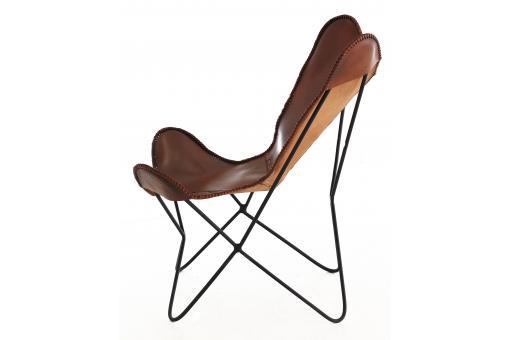 fauteuil butterfly cuir marron posy fauteuil design pas cher. Black Bedroom Furniture Sets. Home Design Ideas