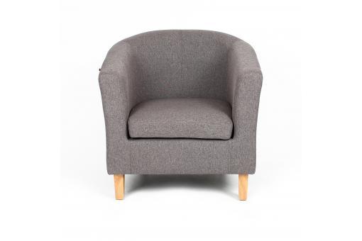 fauteuil cabriolet gris norina fauteuil design pas cher. Black Bedroom Furniture Sets. Home Design Ideas