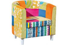 Fauteuil Cabriolet Patchwork Multicolore BENITO - Fauteuil design