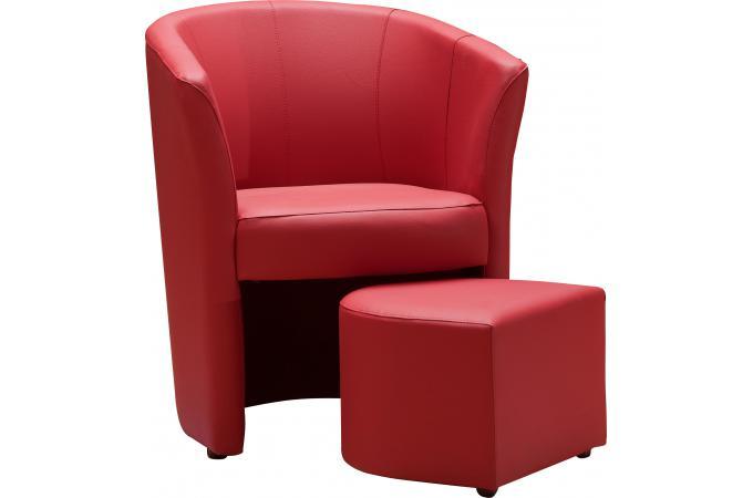 fauteuil cabriolet repose pieds rouge buzz fauteuil design pas cher. Black Bedroom Furniture Sets. Home Design Ideas