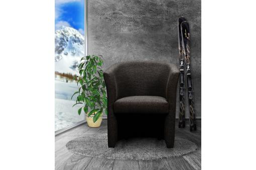 Fauteuil Cabriolet Tissu Anthracite BUZZ