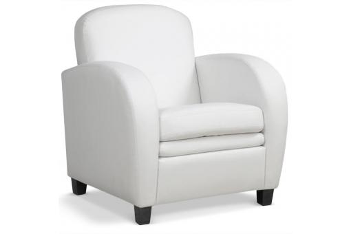 Fauteuil Club Blanc DANNY