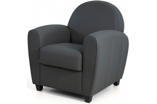 Fauteuil Club Anthracite HELOISE