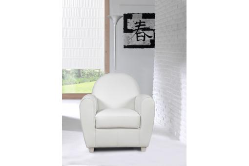 Fauteuil Club Blanc HELOISE