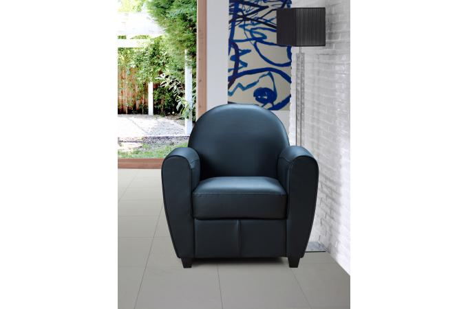 fauteuil club noir patricia fauteuil design pas cher. Black Bedroom Furniture Sets. Home Design Ideas
