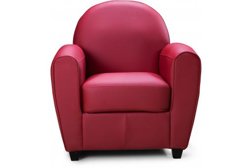 Fauteuil Club Rouge HELOISE