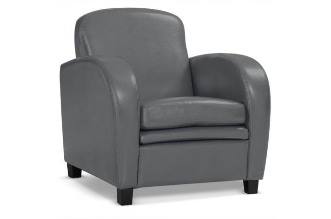 fauteuil club gris danny fauteuil design pas cher. Black Bedroom Furniture Sets. Home Design Ideas