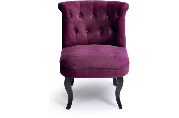 fauteuil crapaud capitonn violet old england fauteuil design pas cher. Black Bedroom Furniture Sets. Home Design Ideas