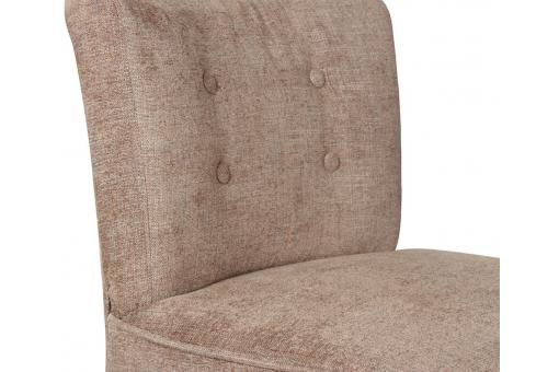 Fauteuil Crapaud Chauffeuse Surpiqué Taupe Swing