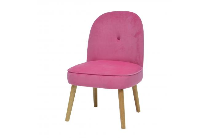 Fauteuil Crapaud Scandinave Rose LEOPOLD