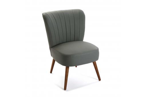 fauteuil crapaud simili gris cosma fauteuil design pas cher. Black Bedroom Furniture Sets. Home Design Ideas