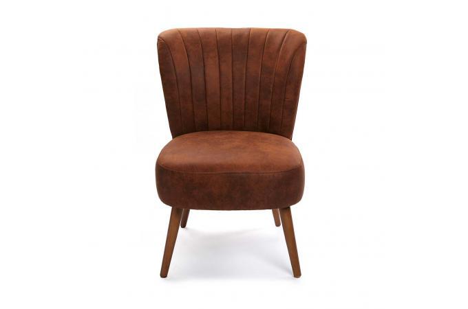 fauteuil crapaud simili marron cosma fauteuil design pas cher. Black Bedroom Furniture Sets. Home Design Ideas