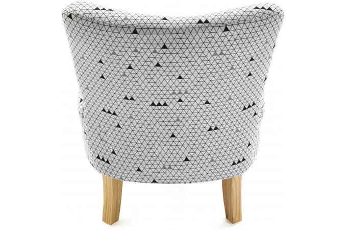 fauteuil crapaud triangles blanc et gris allan fauteuil. Black Bedroom Furniture Sets. Home Design Ideas