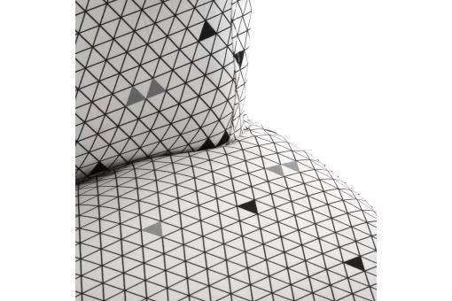 fauteuil crapaud triangles blanc et gris allan fauteuil crapaud pas cher. Black Bedroom Furniture Sets. Home Design Ideas