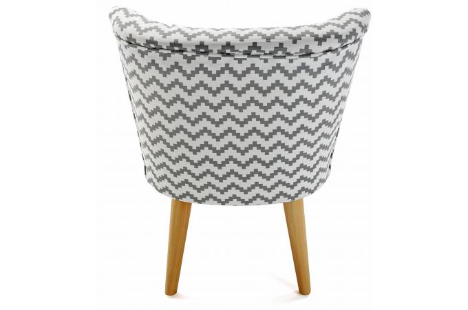 fauteuil crapaud zigzag blanc et gris allan fauteuil. Black Bedroom Furniture Sets. Home Design Ideas