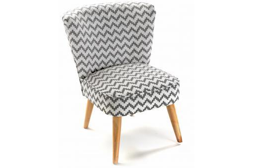 fauteuil crapaud zigzag blanc et gris allan fauteuil crapaud pas cher. Black Bedroom Furniture Sets. Home Design Ideas