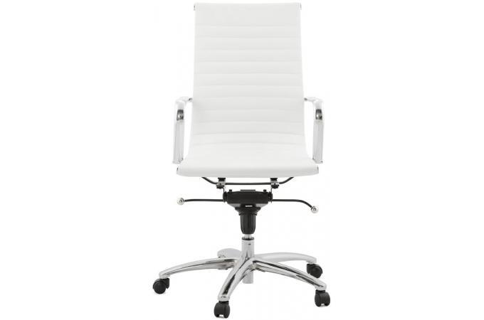 Chaise de Bureau blanc et chrome ATAL Fauteuil Chaise de