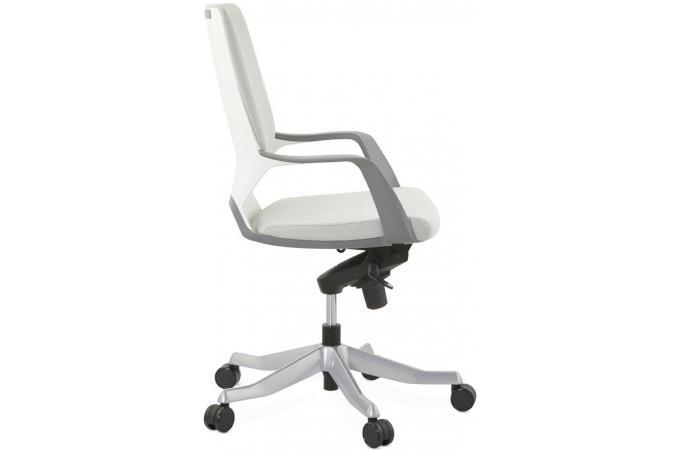 Ergonomique Gris MILANO Fauteuil Chaise De Bureau Blanc