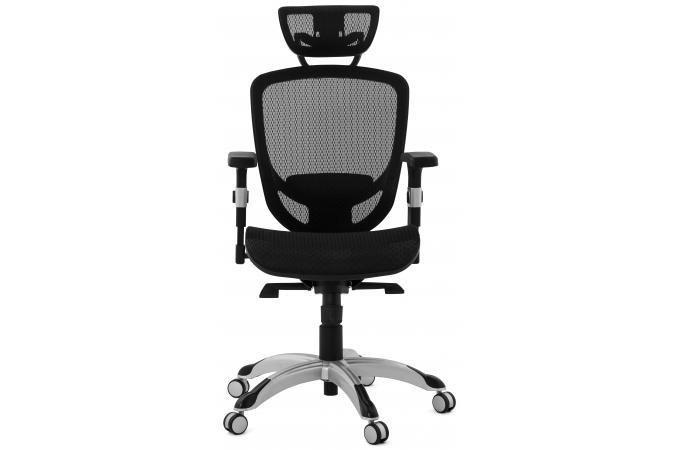 Chaise de bureau tissu noir design kyle fauteuil chaise de