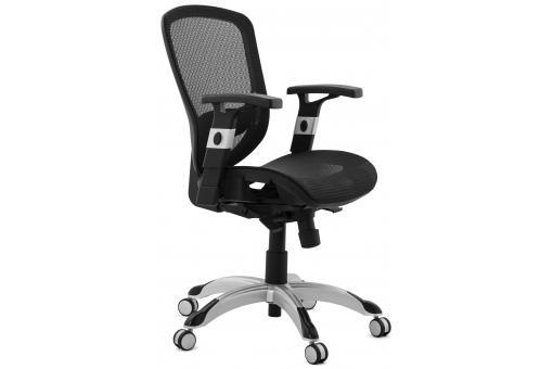 chaise de bureau tissu noir design kyle fauteuil chaise de bureau pas cher. Black Bedroom Furniture Sets. Home Design Ideas