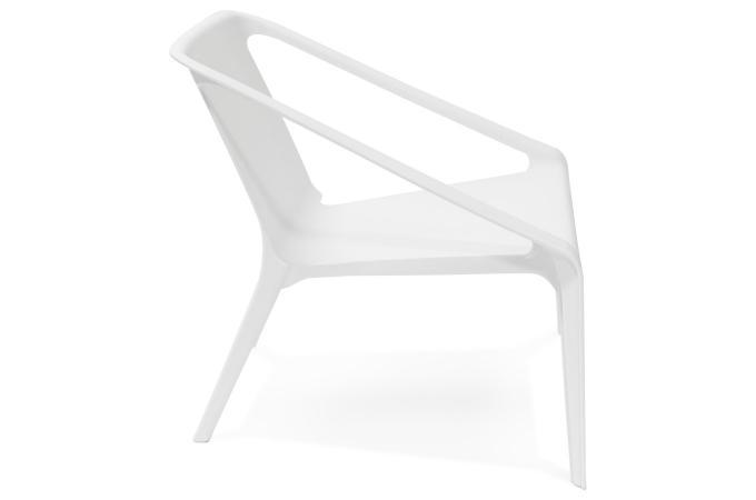fauteuil de jardin en plastique blanc acoma fauteuil et chaise de jardin pas cher. Black Bedroom Furniture Sets. Home Design Ideas