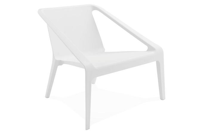 Fauteuil De Jardin En Plastique Blanc ACOMA - Fauteuil et Chaise ...