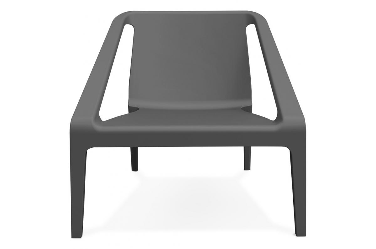 Fauteuil De Jardin En Plastique Gris ACOMA - Fauteuil et Chaise de