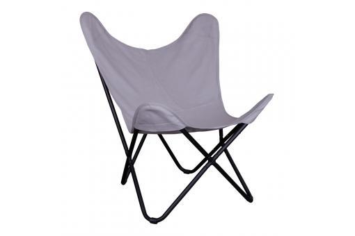 fauteuil papillon gris indoor fauteuil design pas cher. Black Bedroom Furniture Sets. Home Design Ideas