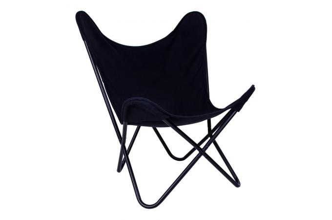 fauteuil papillon noir indoor fauteuil design pas cher. Black Bedroom Furniture Sets. Home Design Ideas