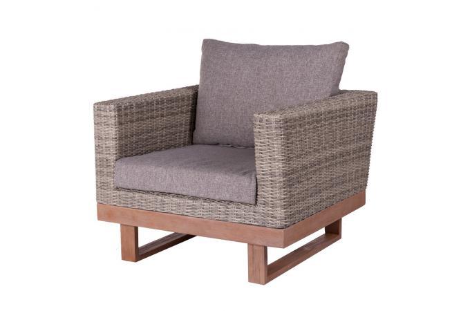 fauteuil de jardin rotin gris chiara fauteuil et chaise. Black Bedroom Furniture Sets. Home Design Ideas