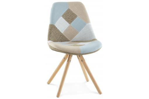 Fauteuil design patchwork CARAL