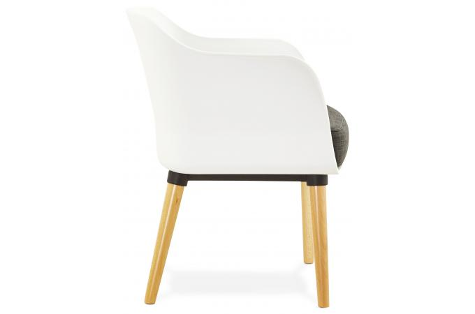 fauteuil design scandinaves gris et blanc mystic fauteuil design pas cher. Black Bedroom Furniture Sets. Home Design Ideas