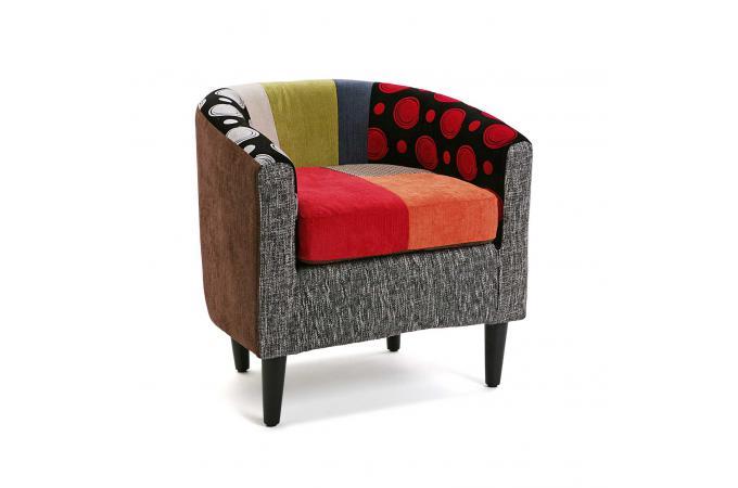 Fauteuil En Coton Patchwork Multicolore RAGETTI Fauteuil Design