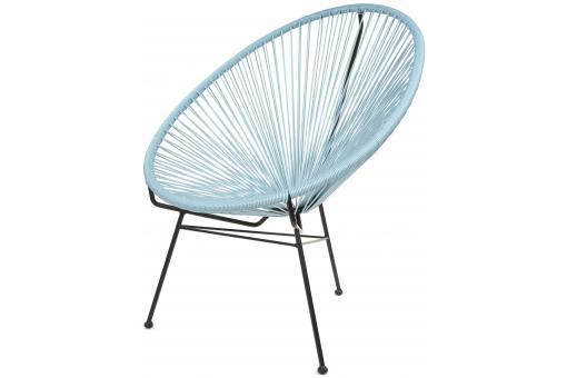 Fauteuil la chaise longue bleu ardoise acapulco fauteuil - Chaise acapulco pas cher ...