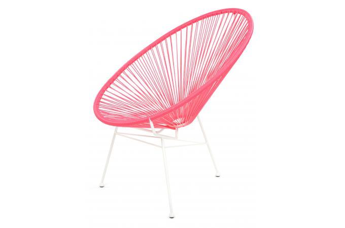 fauteuil la chaise longue rose acapulco fauteuil et chaise de jardin pas cher. Black Bedroom Furniture Sets. Home Design Ideas