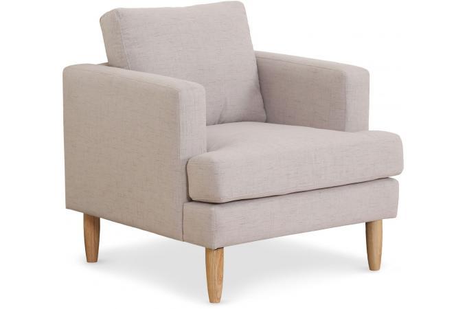 fauteuil tissu beige lee fauteuil design pas cher. Black Bedroom Furniture Sets. Home Design Ideas