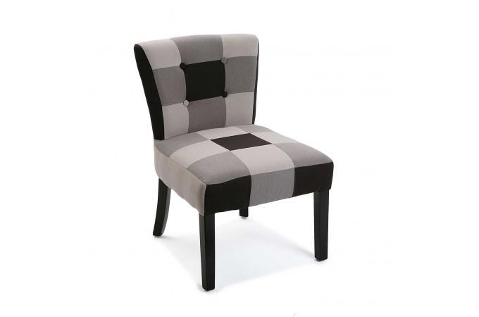 Chaise Patchwork Noir Blanc NIORA