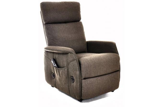 fauteuil relaxation tissu chocolat elva fauteuil design pas cher. Black Bedroom Furniture Sets. Home Design Ideas
