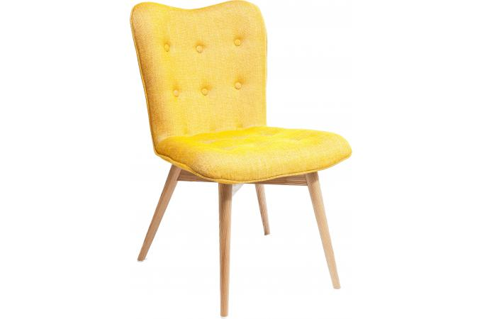 chaise retro hêtre moutarde - chaise design pas cher - Chaise Retro Pas Cher