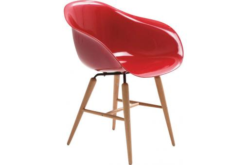 Fauteuil rouge Andreas
