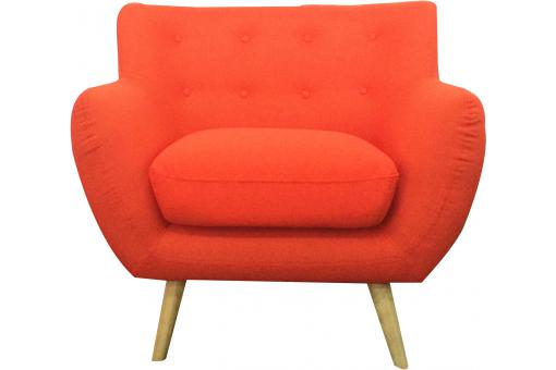 Fauteuil scandinave ALGANO Orange