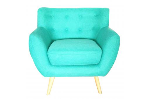 Fauteuil scandinave ALGANO Turquoise