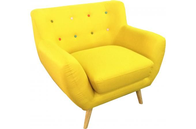 fauteuil scandinave avec boutons multicolores algania fauteuil design pas cher. Black Bedroom Furniture Sets. Home Design Ideas