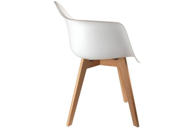 Chaise Scandinave Avec Accoudoir Blanc Fjord Chaise Design Pas Cher