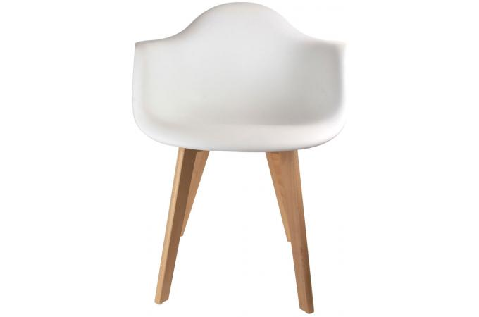 chaise scandinave avec accoudoir blanc fjord chaise. Black Bedroom Furniture Sets. Home Design Ideas