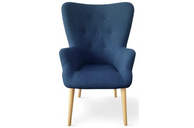fauteuil scandinave bleu rivka fauteuil design pas cher. Black Bedroom Furniture Sets. Home Design Ideas