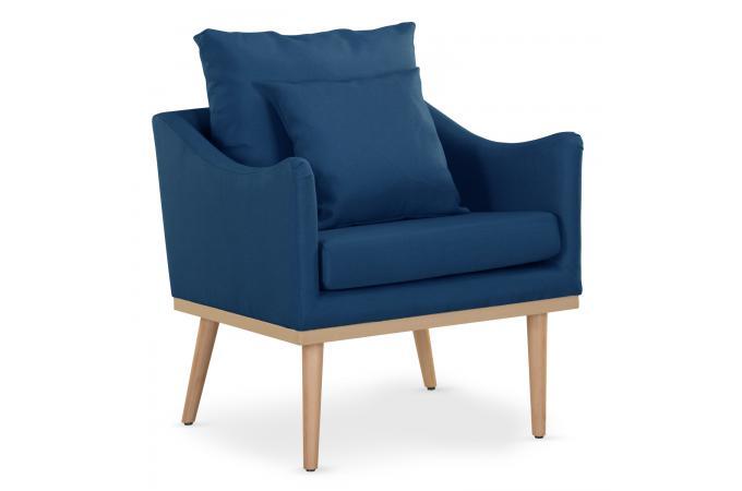Fauteuil Scandinave Bleu SAM - Fauteuil Design Pas Cher