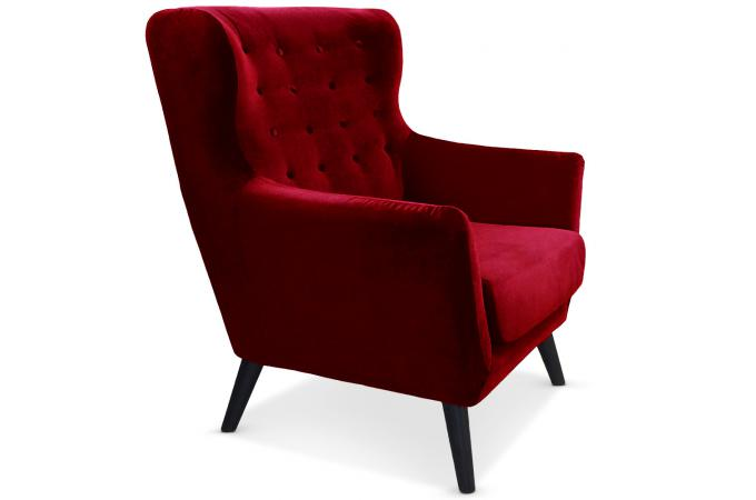 fauteuil scandinave depalma velours rouge fauteuil design pas cher. Black Bedroom Furniture Sets. Home Design Ideas