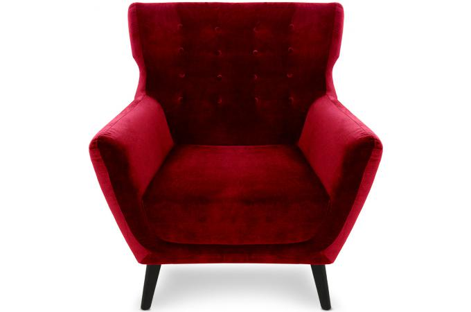 fauteuil scandinave depalma velours rouge fauteuil. Black Bedroom Furniture Sets. Home Design Ideas
